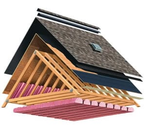 roof replacement and attic insulation