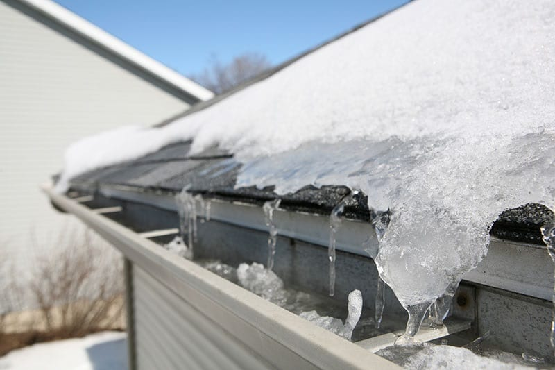 Ice on Clifton Park roof
